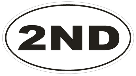 2ND Oval Bumper Sticker or Helmet Sticker D630 Euro Oval Second Amendment - Winter Park Products