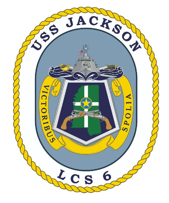 USS Jackson Sticker Military Armed Forces Decal M153 - Winter Park Products