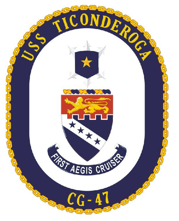 USS Ticonderoga Sticker Military Armed Forces Navy Decal M174 - Winter Park Products