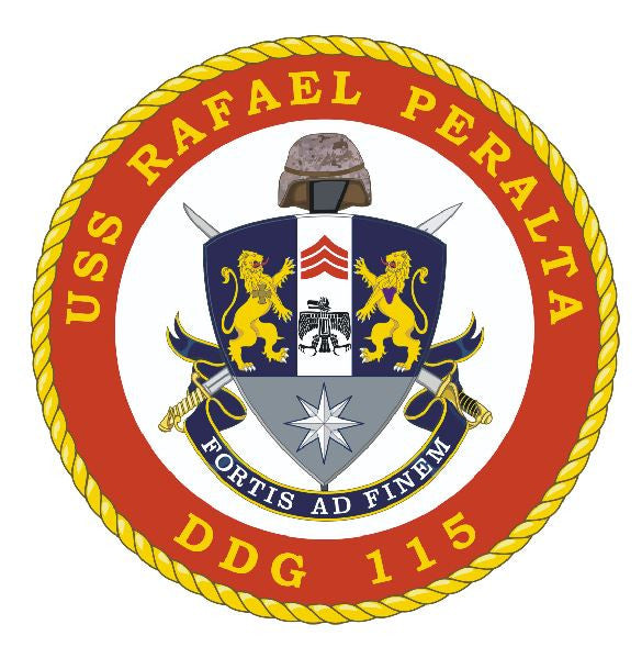 USS Rafael Peralta Sticker Military Armed Forces Navy Decal M195 - Winter Park Products