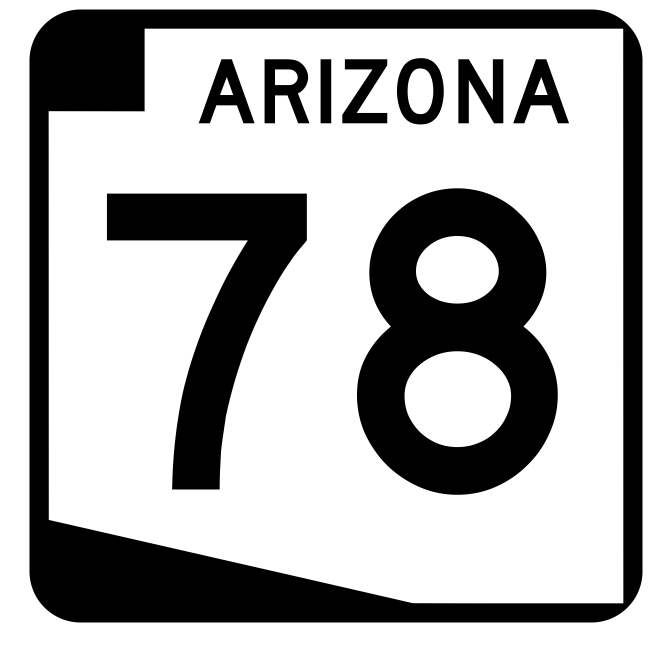Arizona State Route 78 Sticker R2716 Highway Sign Road Sign