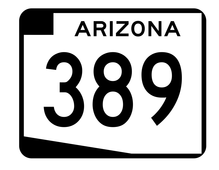 Arizona State Route 389 Sticker R2767 Highway Sign Road Sign