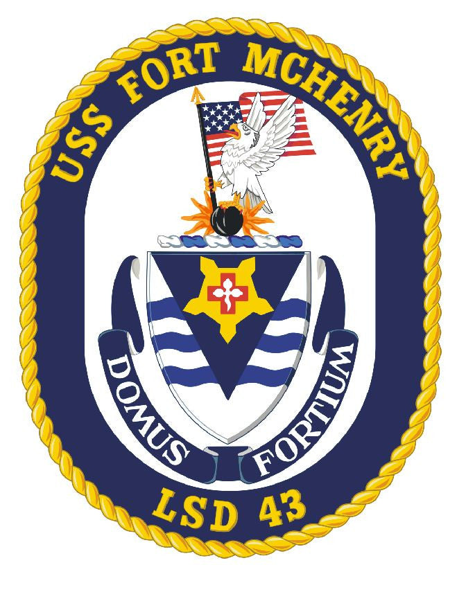USS Fort Mchenry Sticker Military Armed Forces Navy Decal M234 - Winter Park Products