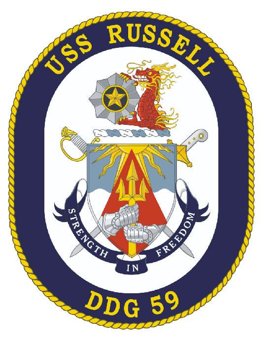 USS Russell Sticker Military Armed Forces Navy Decal M193 - Winter Park Products