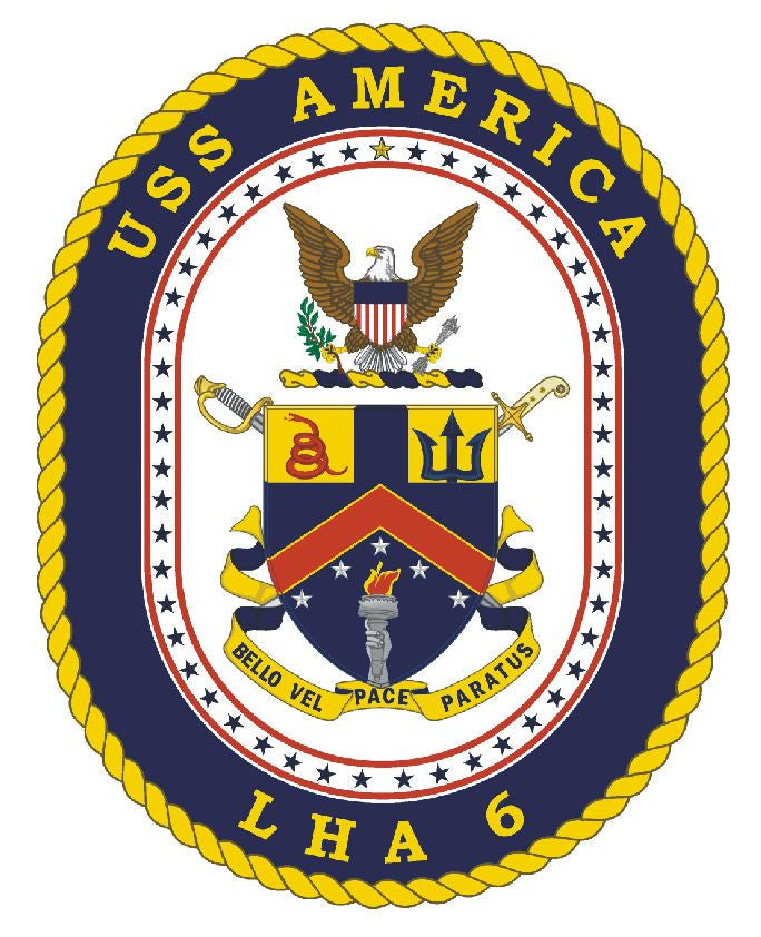 USS America Sticker Military Armed Forces Navy Decal M202 - Winter Park Products