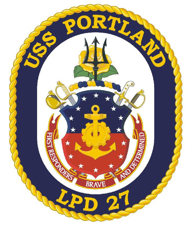 USS Portland Sticker Military Armed Forces Navy Decal M183 - Winter Park Products