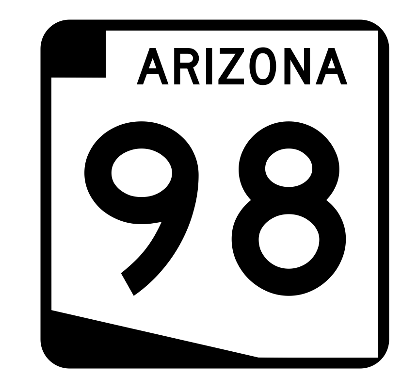 Arizona State Route 98 Sticker R2733 Highway Sign Road Sign