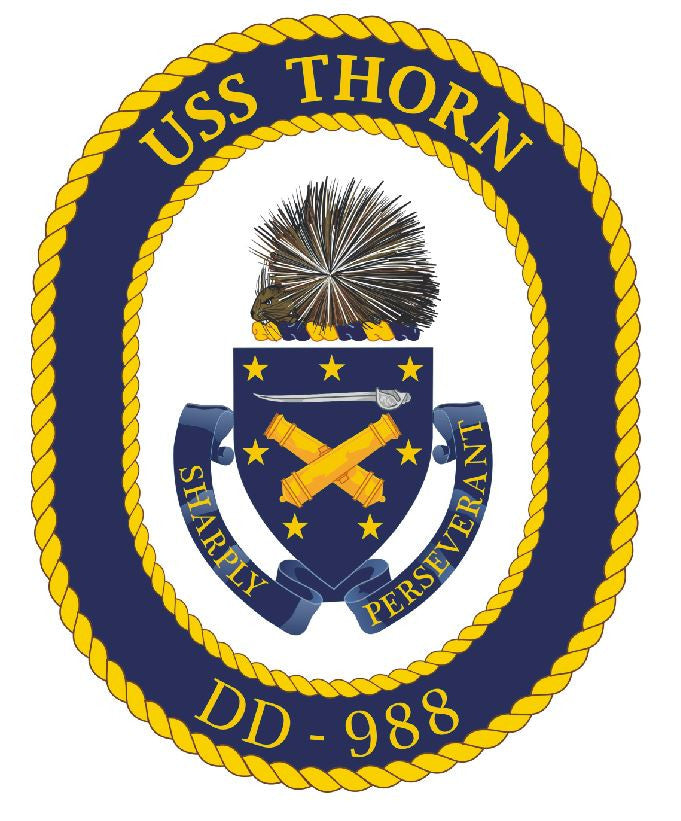 USS Thorn Sticker Military Armed Forces Navy Decal M223 - Winter Park Products