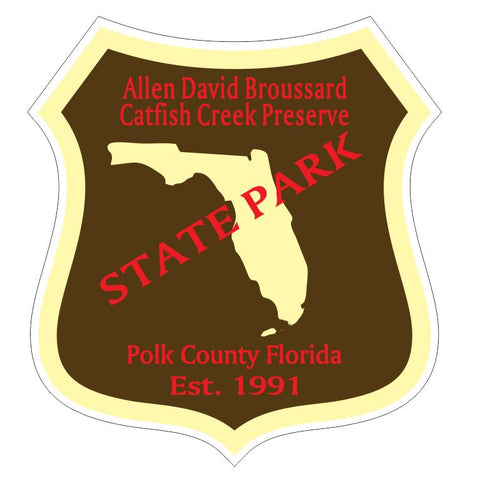 Allen David Broussard Catfish Creek Preserve State Park Sticker R3336 Florida