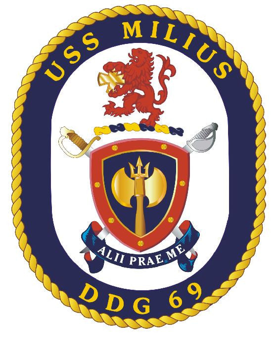 USS Milius Sticker Military Armed Forces Navy Decal M172 - Winter Park Products