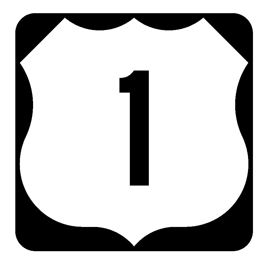 Us Route 1 Sticker Decal R1058 Highway Sign Road Sign