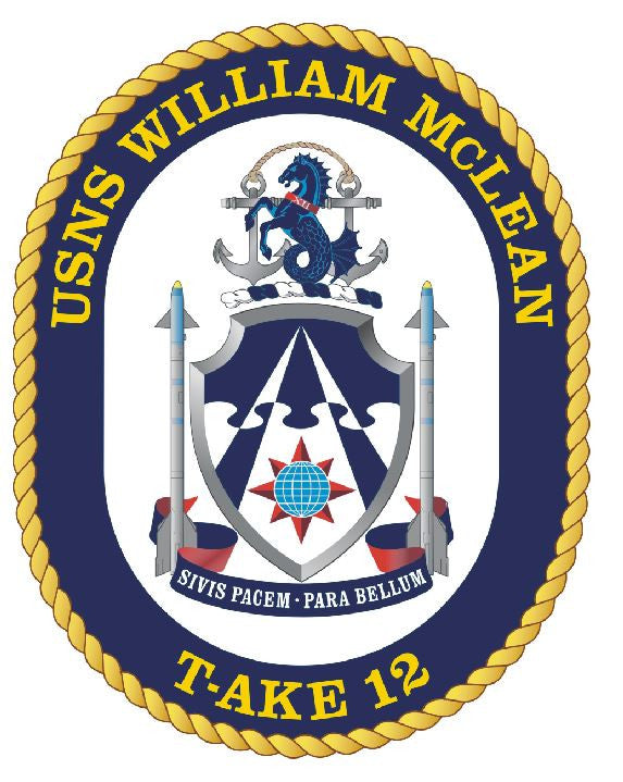 USNS William Mclean Sticker Military Armed Forces Navy Decal M248 - Winter Park Products