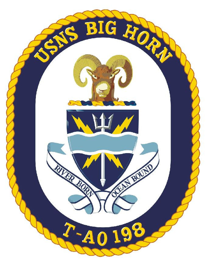 USNS Big Horn Sticker Military Armed Forces Navy Decal M250 - Winter Park Products