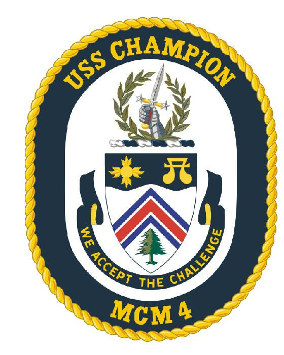 USS Champion Sticker Military Armed Forces Decal M161 - Winter Park Products