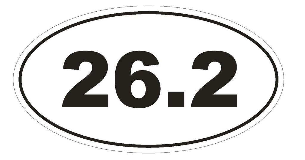 26.2 Marathon Oval Bumper Sticker or Helmet Sticker D131 Laptop Cell Phone Euro - Winter Park Products