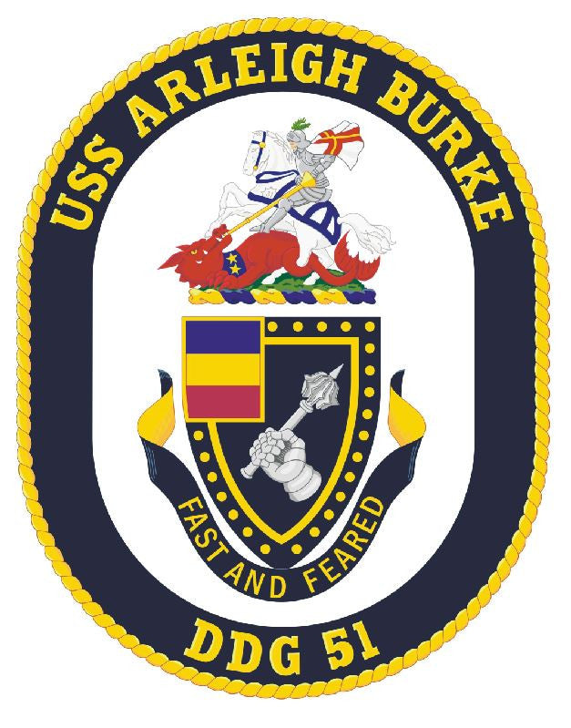 USS Arleigh Burke Sticker Military Armed Forces Navy Decal M208 - Winter Park Products