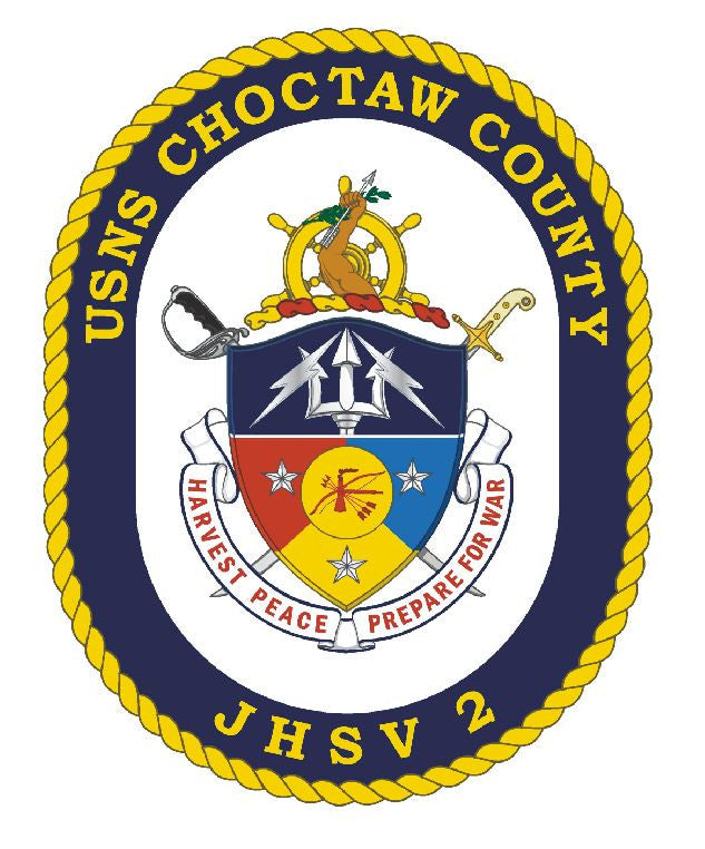 USS Choctaw County Sticker Military Armed Forces Decal M156 - Winter Park Products