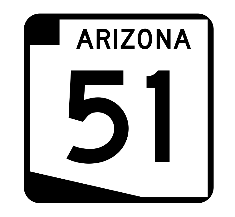 Arizona State Route 51 Sticker R2703 Highway Sign Road Sign