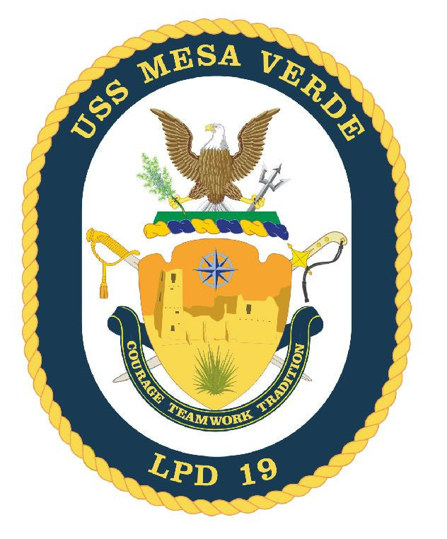 USS Mesa Verde Sticker Military Armed Forces Navy Decal M178 - Winter Park Products