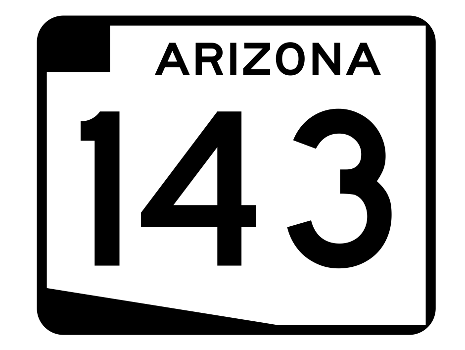 Arizona State Route 143 Sticker R2736 Highway Sign Road Sign