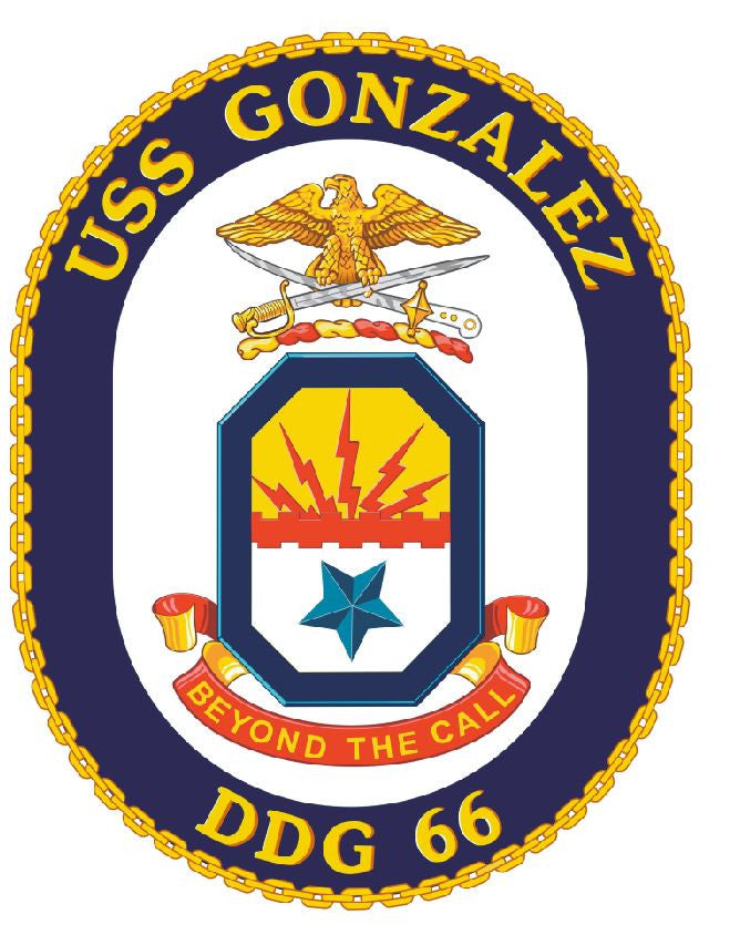 USS Gonzalez Sticker Military Armed Forces Navy Decal M232 - Winter Park Products