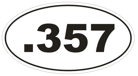 .357 Oval Bumper Sticker or Helmet Sticker D1973 Euro Oval Guns Weapons - Winter Park Products