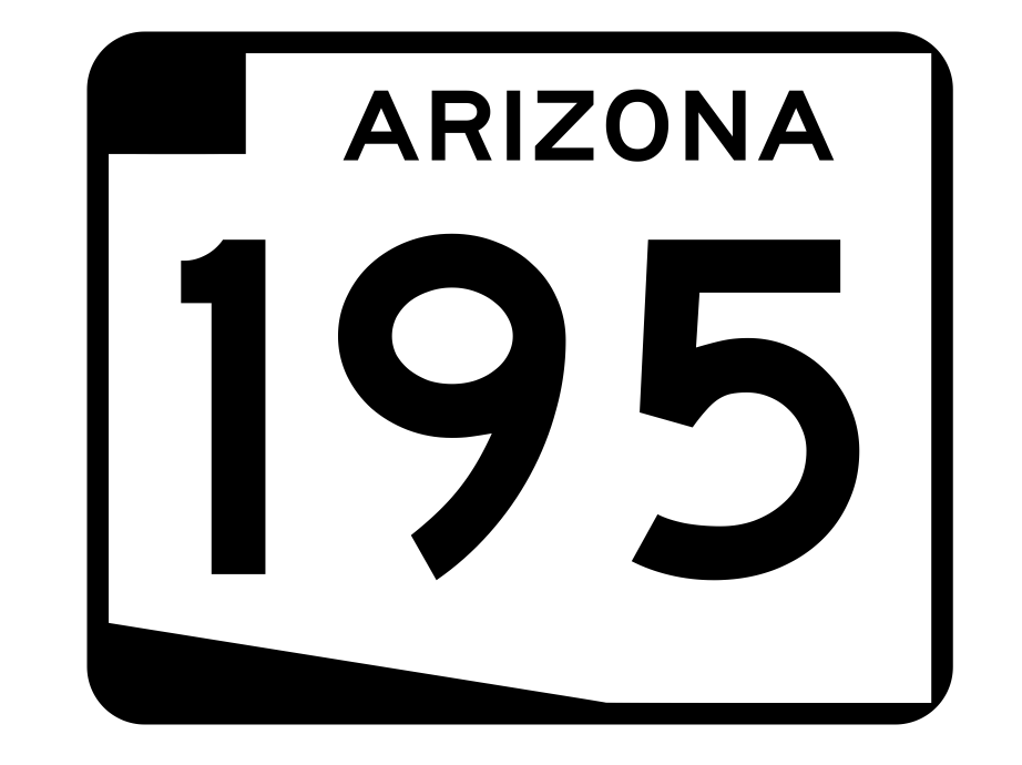 Arizona State Route 195 Sticker R2746 Highway Sign Road Sign