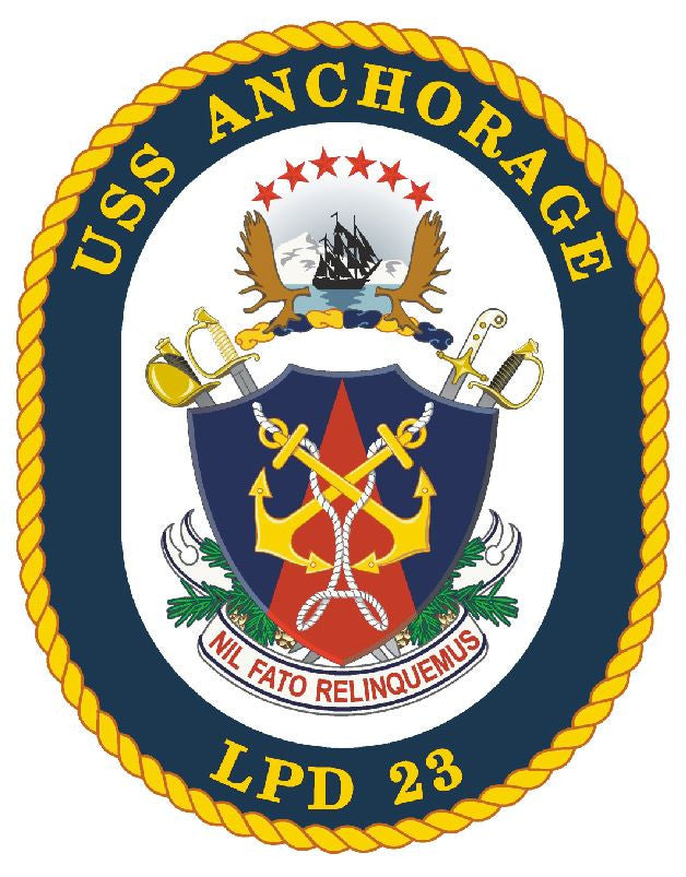 USS Anchorage Sticker Military Armed Forces Navy Decal M205 - Winter Park Products