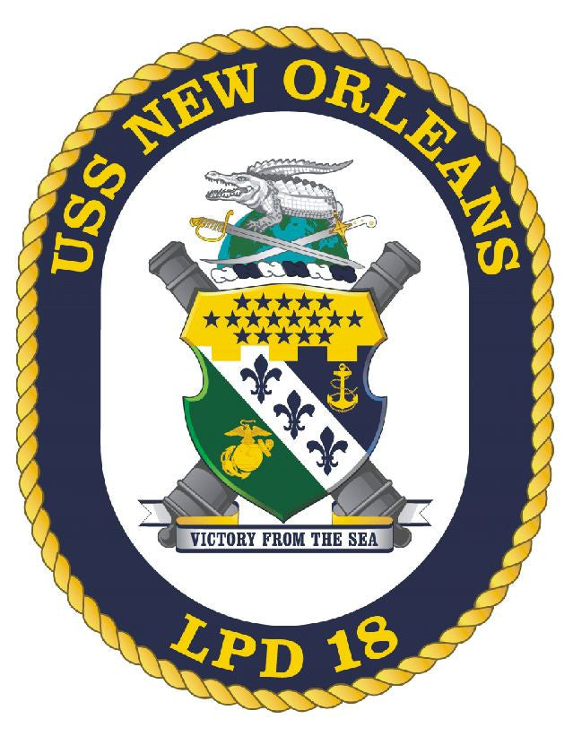USS New Orleans Sticker Military Armed Forces Decal M154 - Winter Park Products