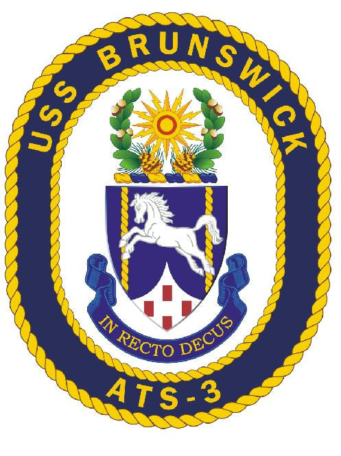 USS Brunswick Sticker Military Armed Forces Decal M158 - Winter Park Products