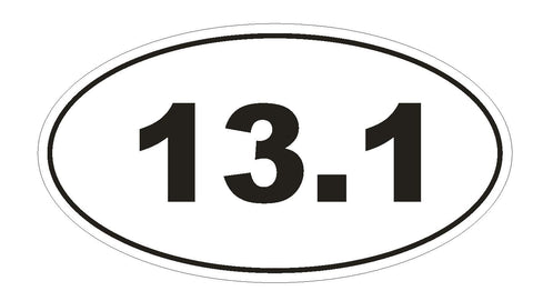 13.1 Oval Bumper Sticker or Helmet Sticker D132 Laptop Cell Phone Marathon Euro - Winter Park Products