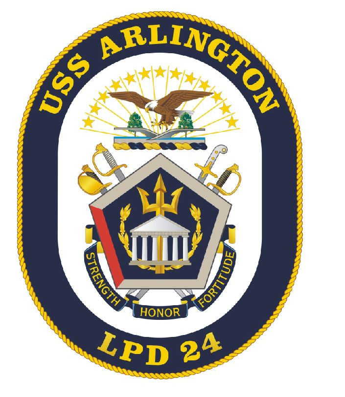 USS Arlington Sticker Military Armed Forces Navy Decal M201 - Winter Park Products