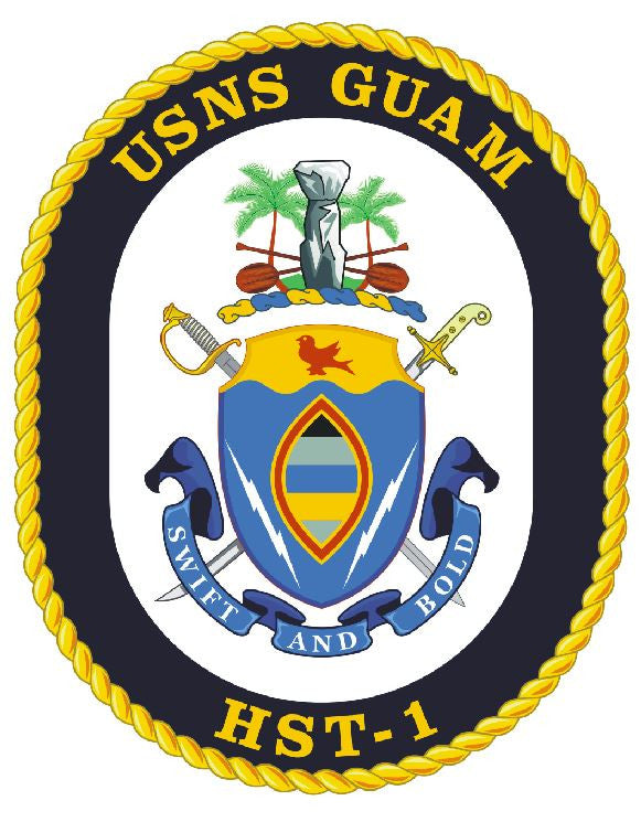 USNS Guam Sticker Military Armed Forces Navy Decal M251 - Winter Park Products