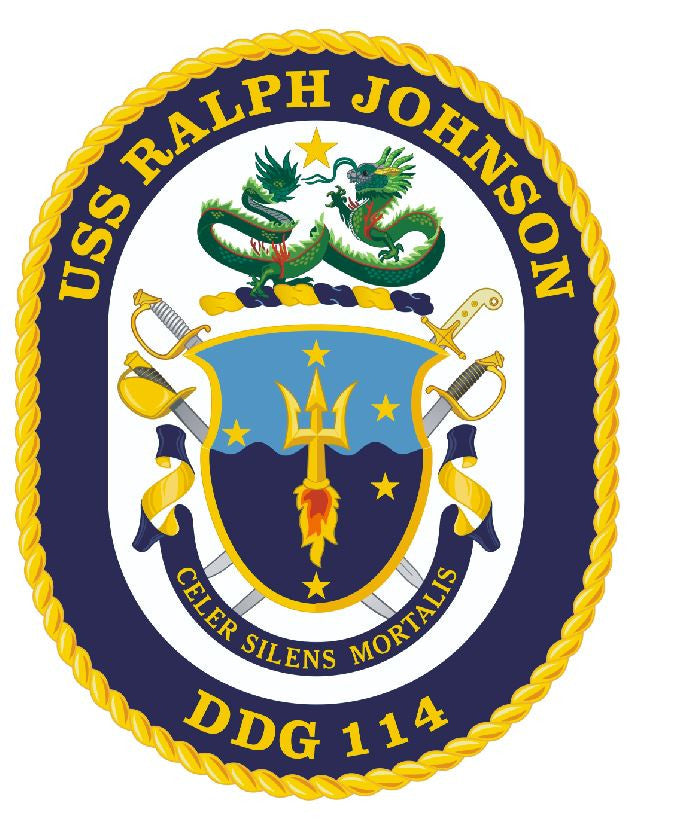 USS Ralph Johnson Sticker Military Armed Forces Navy Decal M236 - Winter Park Products