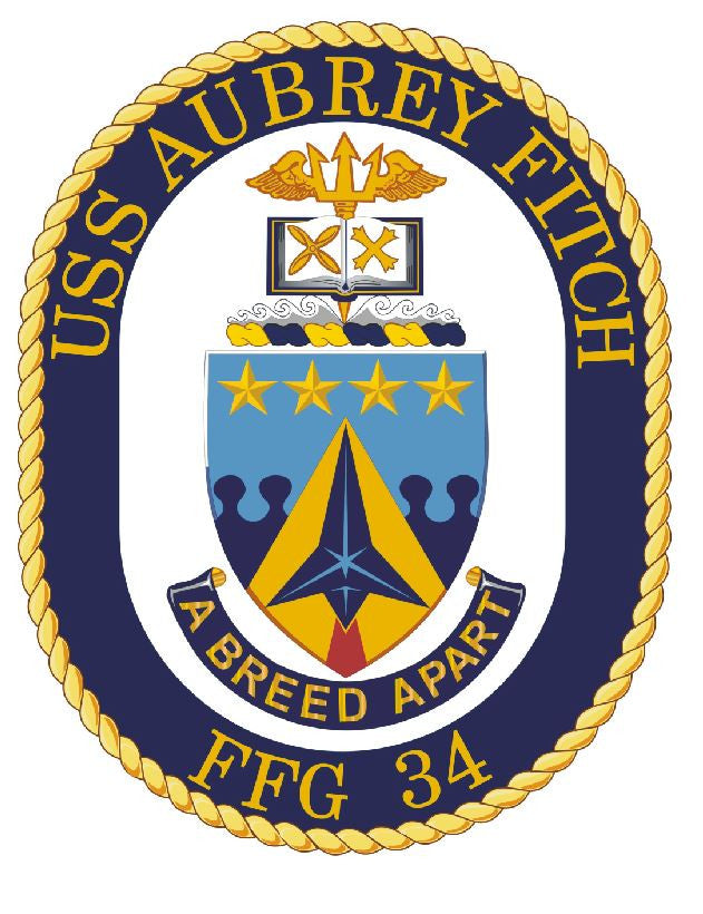 USS Aubrey Fitch Sticker Military Armed Forces Navy Decal M204 - Winter Park Products