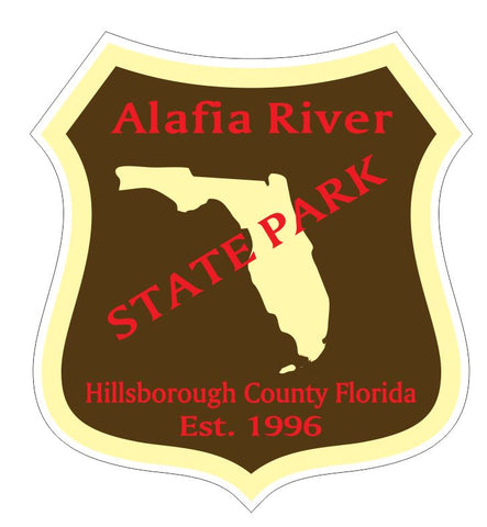 Alafia River State Park Sticker R3334 Florida
