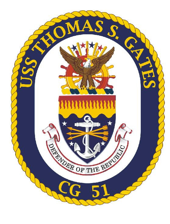 USS Thomas S Gates Sticker Military Armed Forces Decal M163 - Winter Park Products