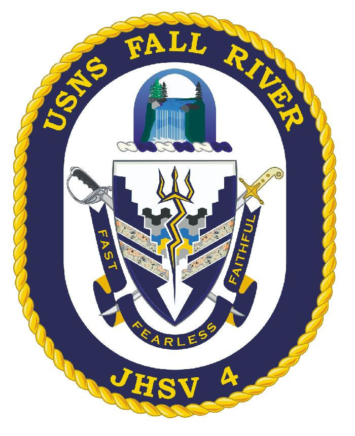 USNS Fall River Sticker Military Armed Forces Navy Decal M252 - Winter Park Products