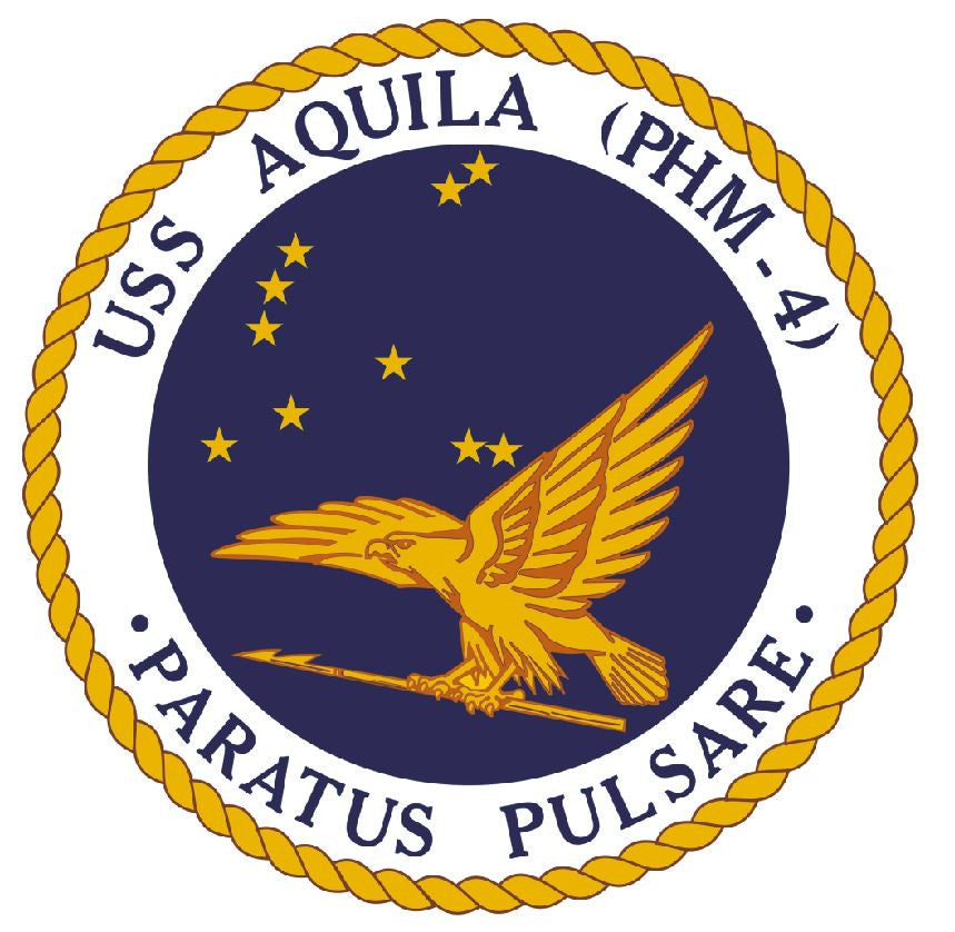 USS Aquila Sticker Military Armed Forces Navy Decal M228 - Winter Park Products