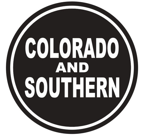 Colorado & Southern Railroad Sticker R4402 Rail Road Train