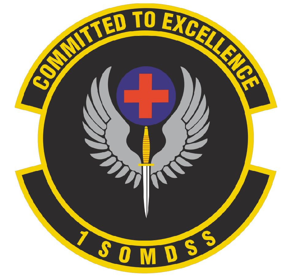 1ST SPECIAL OPERATIONS MEDICAL SUPPORT SQUADRON Sticker /  Decal M315 - Winter Park Products