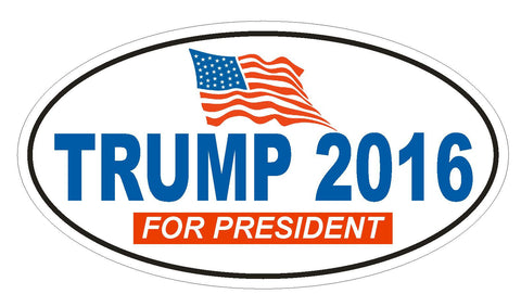 DONALD TRUMP 2016 TRUMP FOR PRESIDENT BUMPER STICKER or Helmet Sticker D823 - Winter Park Products