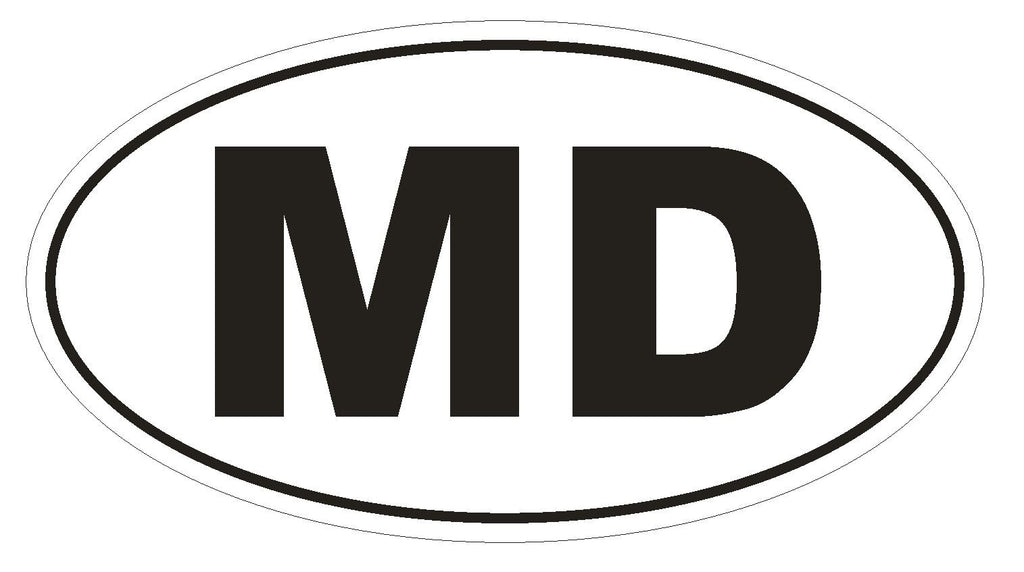 MD Maryland Euro Oval Bumper Sticker or Helmet Sticker D466 Moldova Country Code - Winter Park Products