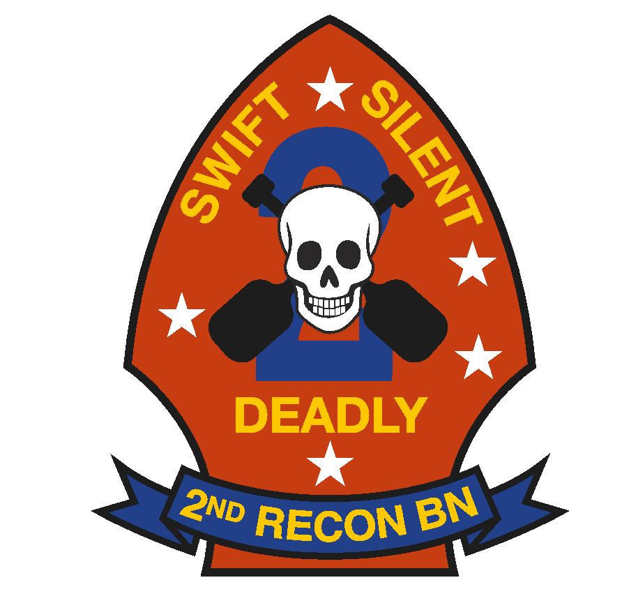 2nd Recon Battalion Vinyl Sticker R271 - Winter Park Products