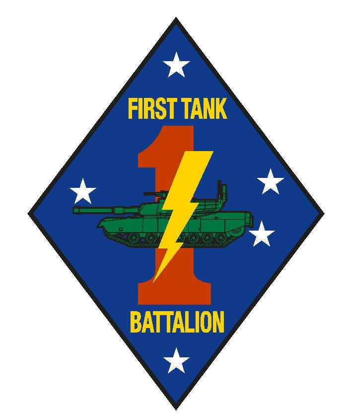 1st Tank Battalion  Vinyl Sticker R273 - Winter Park Products