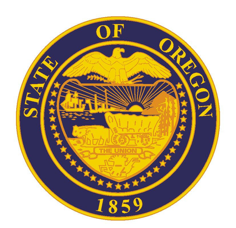 Oregon State Seal Vinyl Sticker R554 - Winter Park Products