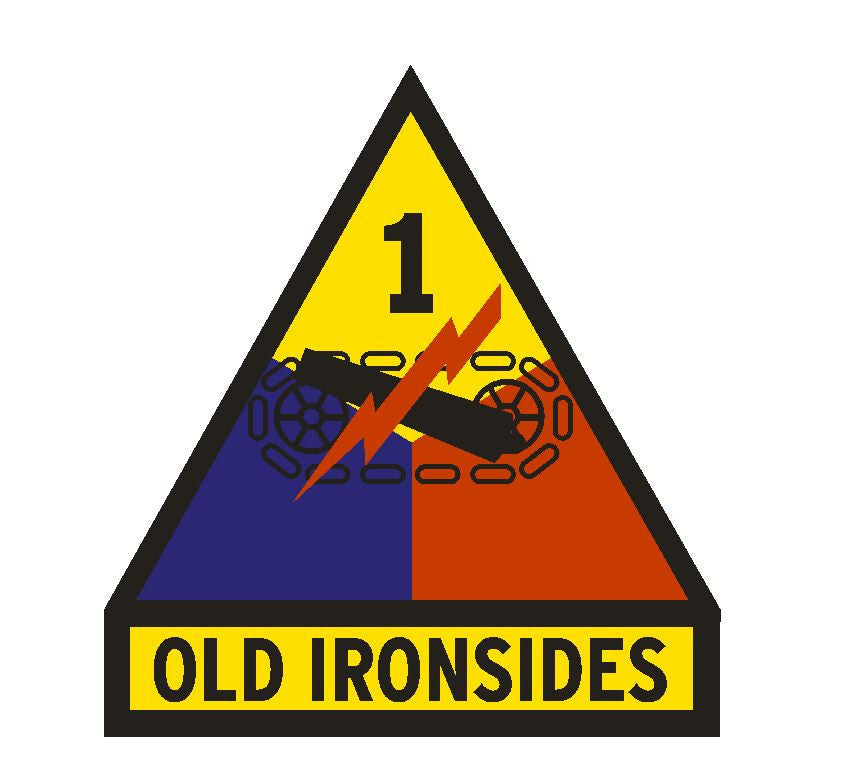 1st Armored Division Old Ironsides Vinyl Sticker R292 - Winter Park Products