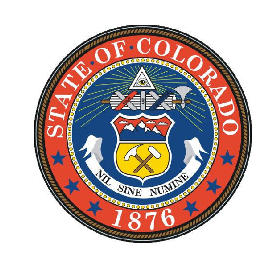 Colorado State Seal Vinyl Sticker R526 - Winter Park Products