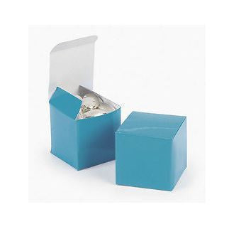 "Turquoise 2"" Square Favor Boxes AS LOW AS 19¢ EACH #32608 - Winter Park Products"