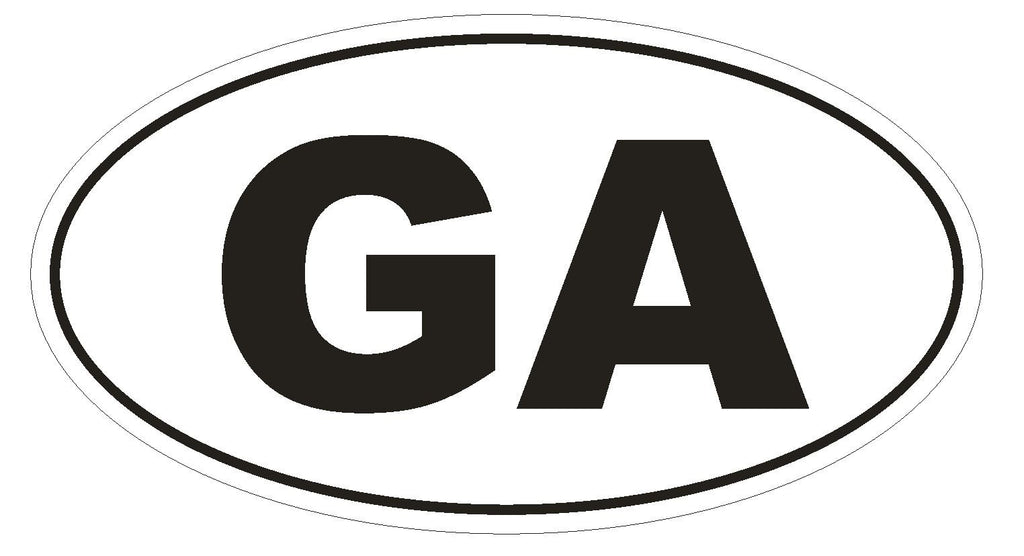 GA Georgia Euro Oval Bumper Sticker or Helmet Sticker D456 Gabon Country Code - Winter Park Products
